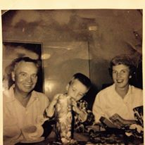 Christmas 1959 Mom Dad n Me